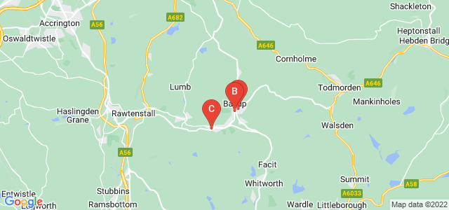 Google static map for Bacup