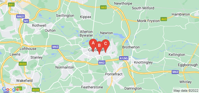 Google static map for Castleford
