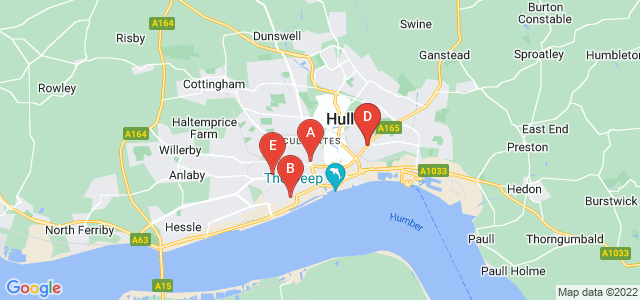 Google static map for Hull