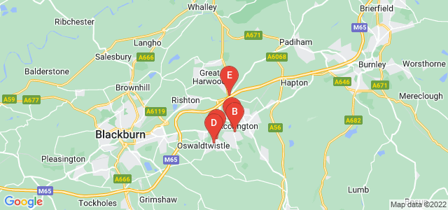 Google static map for Accrington
