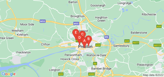 Google static map for Preston