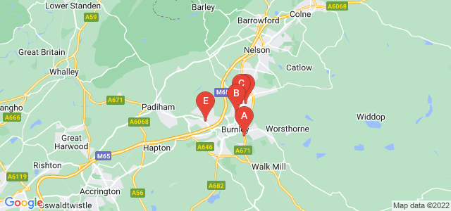 Google static map for Burnley