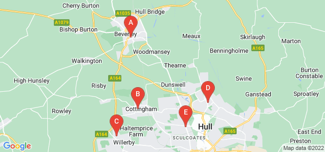 Google static map for East Riding Of Yorkshire