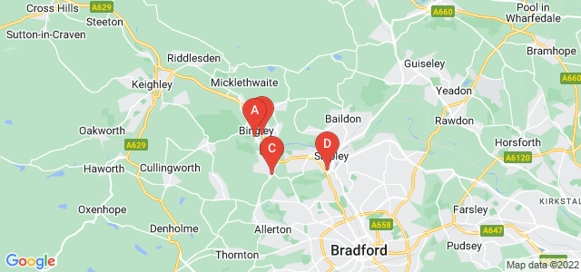 Google static map for Bingley