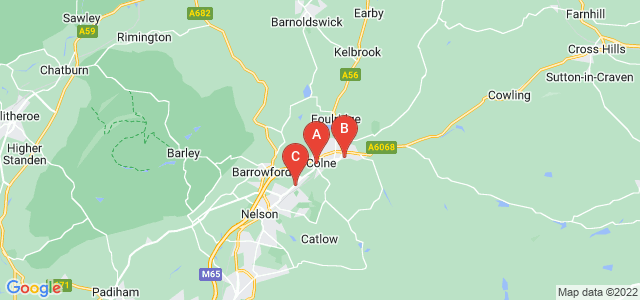 Google static map for Colne