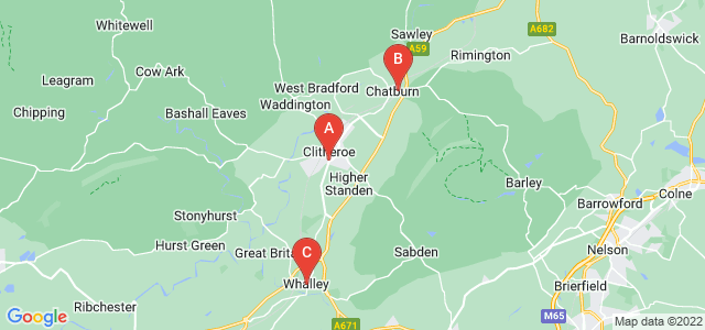 Google static map for Clitheroe