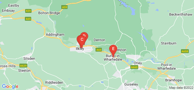 Google static map for Ilkley