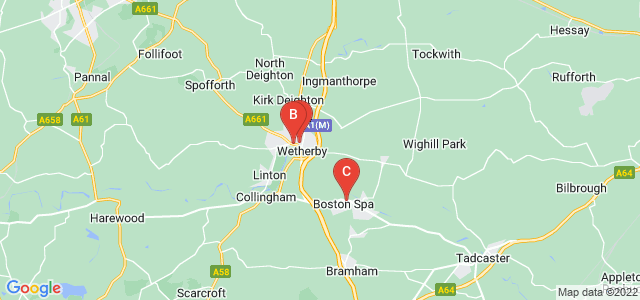 Google static map for Wetherby