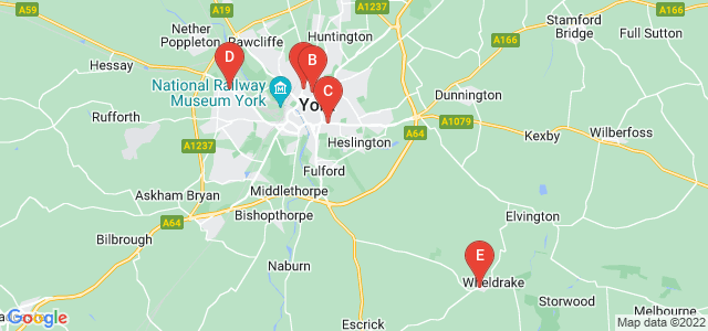 Google static map for York