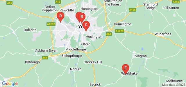 Google static map for York