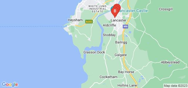 Google static map for Lancaster