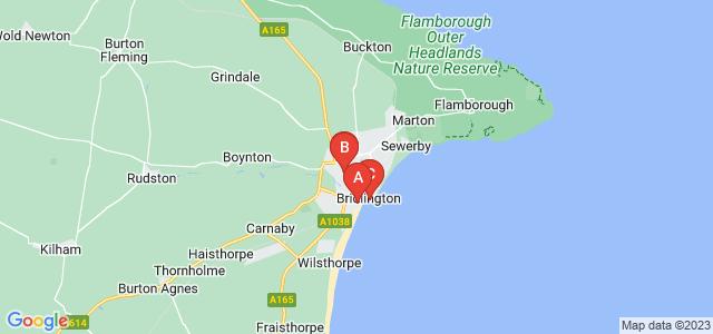 Google static map for Bridlington