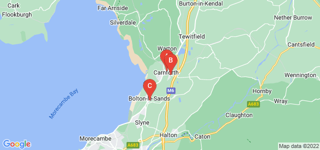 Google static map for Carnforth