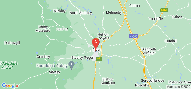Google static map for Ripon
