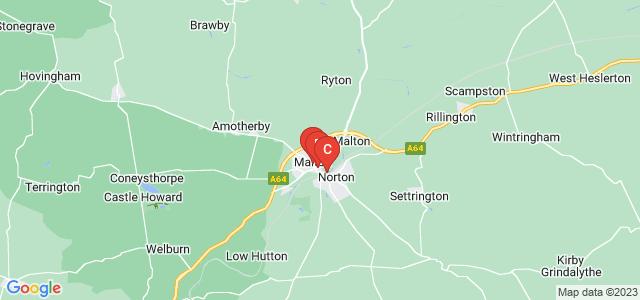 Google static map for Malton