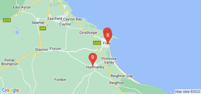 Google static map for Filey