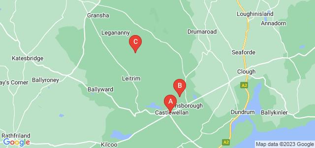 Google static map for Castlewellan