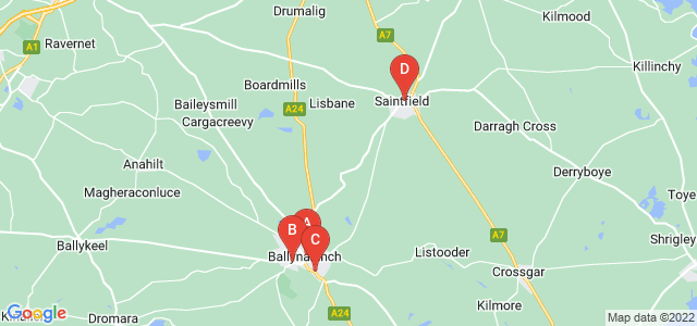 Google static map for Ballynahinch
