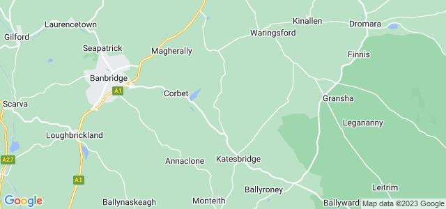 Google static map for Banbridge