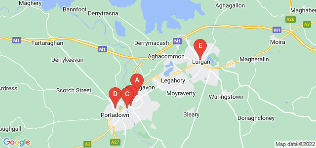 Google static map for Craigavon