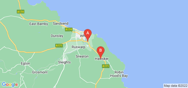 Google static map for Whitby