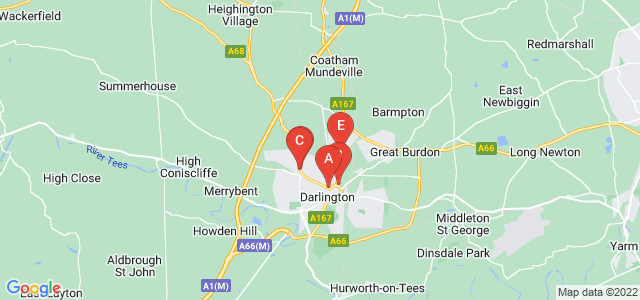 Google static map for Darlington