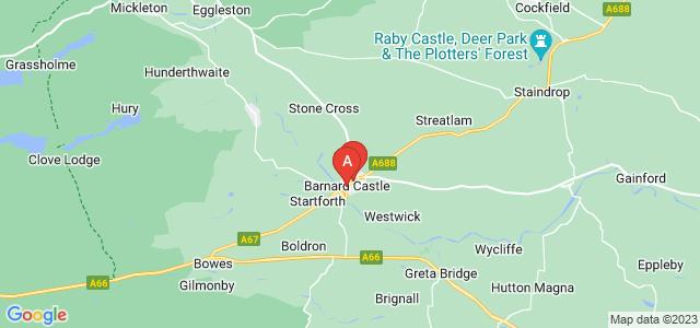 Google static map for Barnard Castle