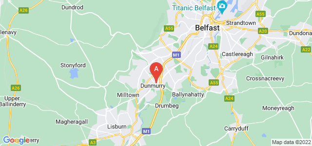 Google static map for Lisburn