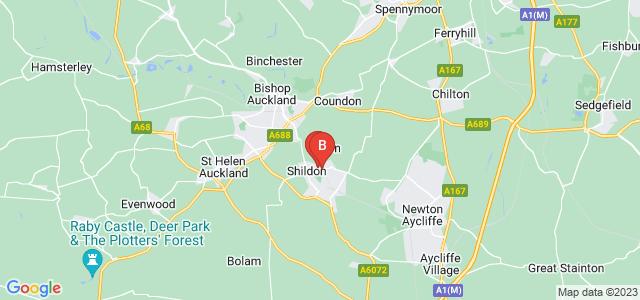 Google static map for Shildon
