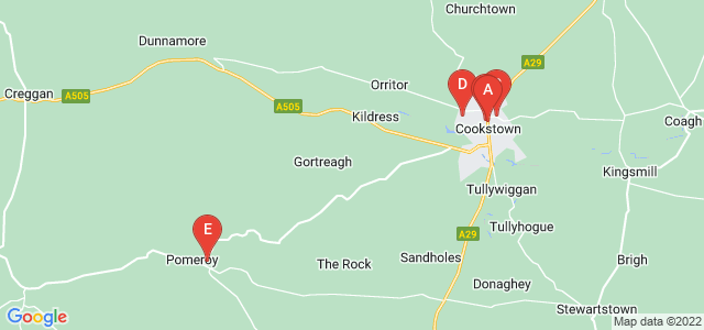 Google static map for Cookstown