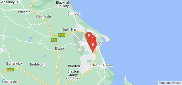 Google static map for Hartlepool