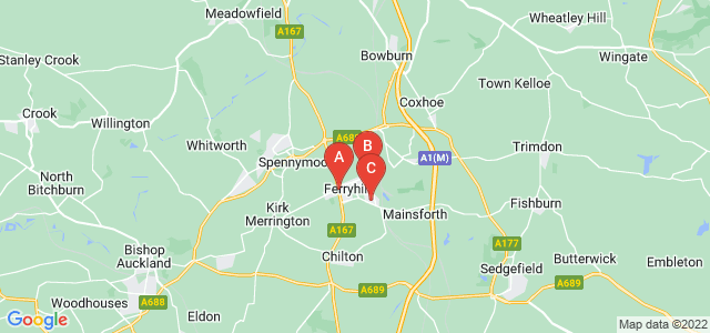Google static map for Ferryhill