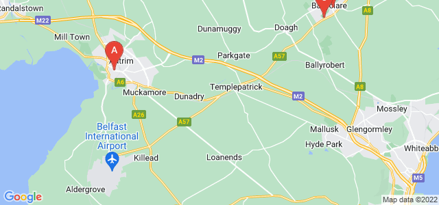Google static map for County Antrim