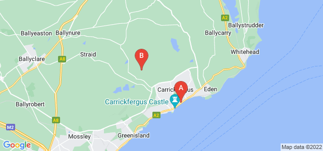 Google static map for Carrickfergus