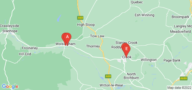 Google static map for County Durham