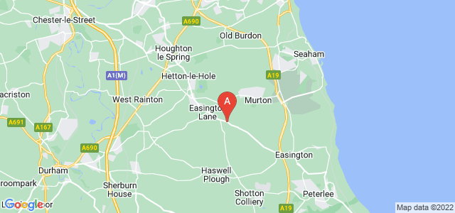 Google static map for South Hetton