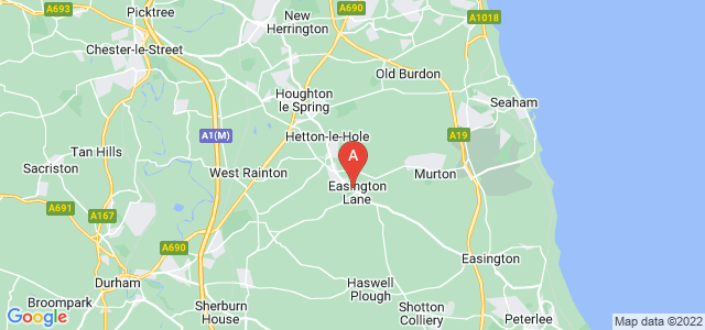 Google static map for Easington Lane