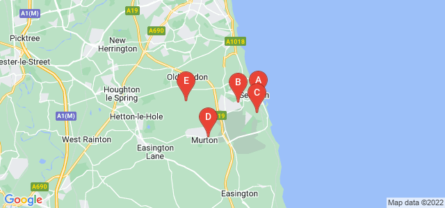 Google static map for Seaham