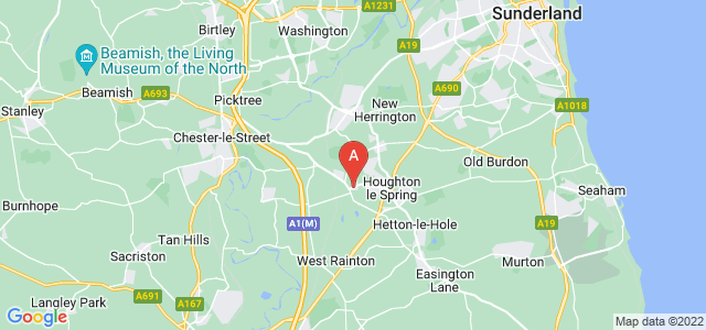 Google static map for Houghton Le Spring