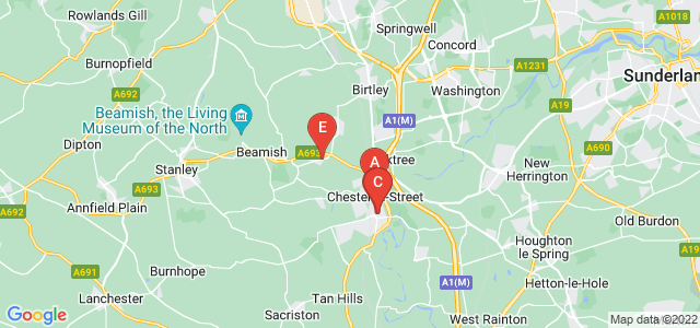 Google static map for Chester Le Street