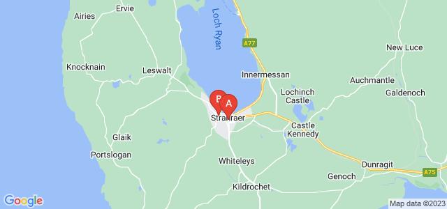 Google static map for Stranraer