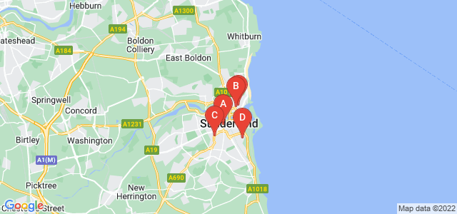 Google static map for Sunderland