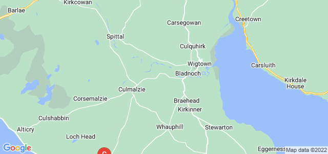 Google static map for Newton Stewart