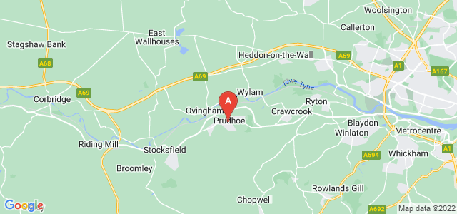 Google static map for Prudhoe