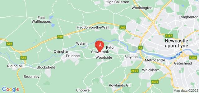 Google static map for Ryton