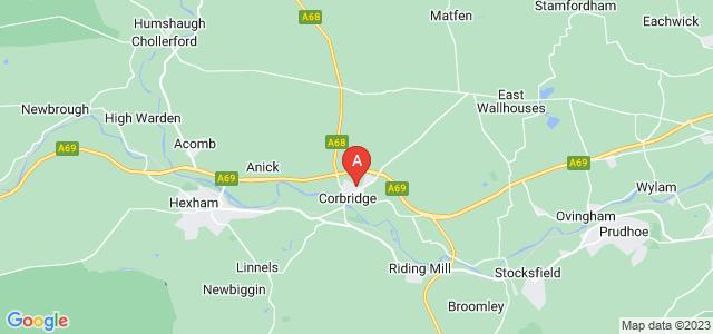Google static map for Corbridge
