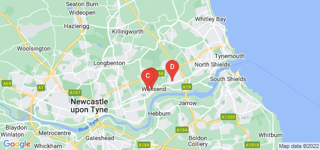 Google static map for Wallsend