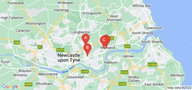 Google static map for Tyne And Wear