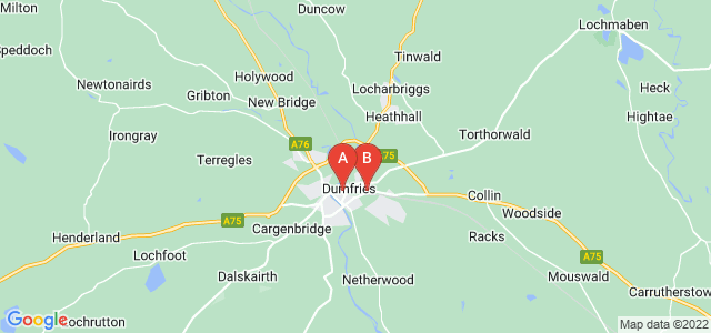 Google static map for Dumfries