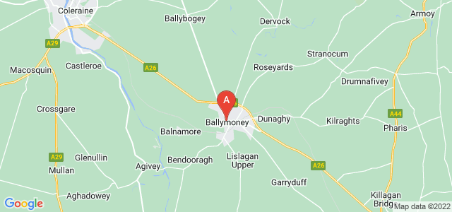 Google static map for Ballymoney